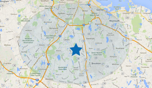 Massachusetts Plumbing Service Area.