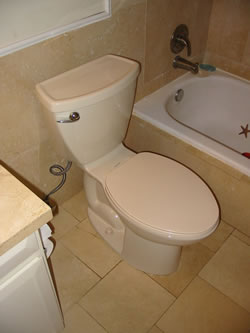 New Efficient Low Flush Volume Toilet Installations.